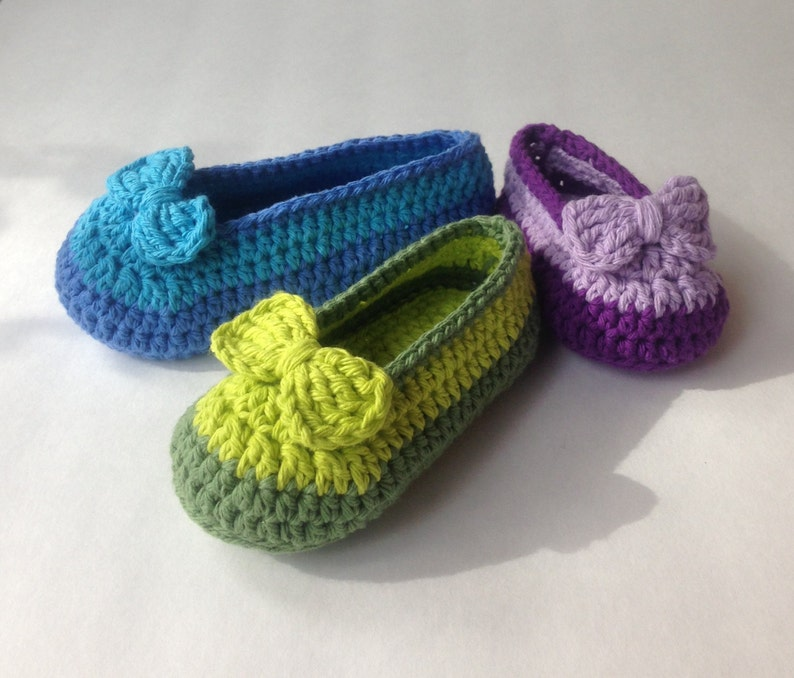 d0d0db59f1fb6 Crochet Pattern* Shoe with bow* for Girls* Double sole* newborn to 3yrs*  PDF* *Instant Download Pattern # 436* + a gift *