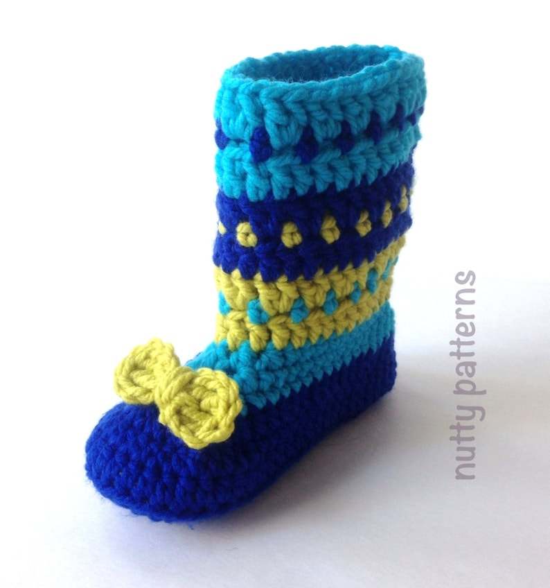 4f4a19f3d3e90 Crochet Pattern * Charlie Boots for children * Double sole * Instant  Download pattern #459 * Girls * boys *