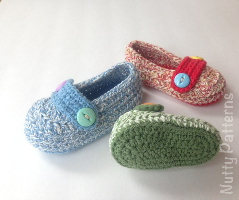 57c9cf4273aef Crochet Pattern * His and Her Loafers * Instant Download #432 * for babies  and toddlers *Pdf pattern * Newborn - 3Yrs
