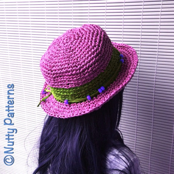 c7772c90c51 Crochet Pattern ELLA Hat PDF Instant download 498 Sun