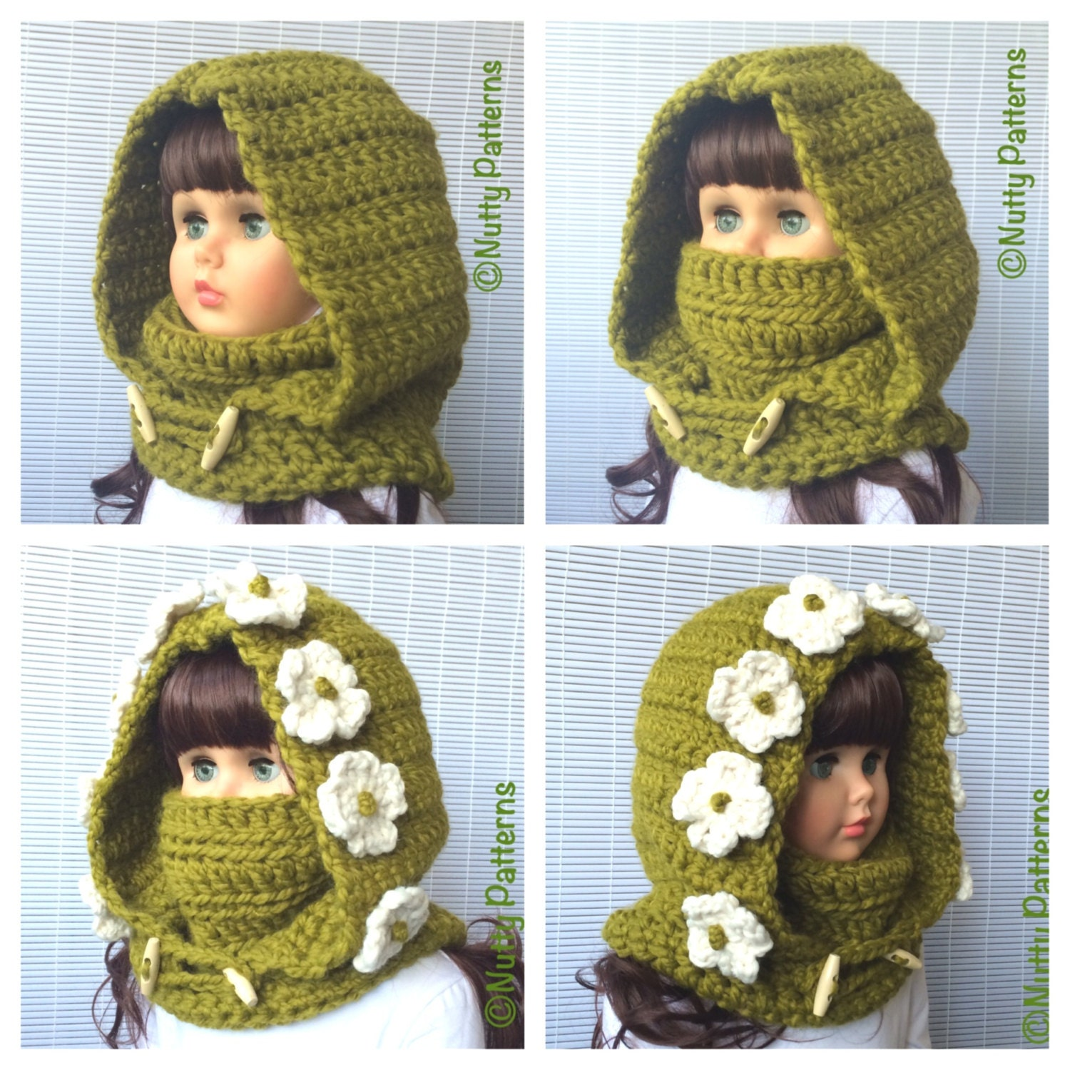 Crochet Patterns Montana Hood With Cowl Instant Download Etsy