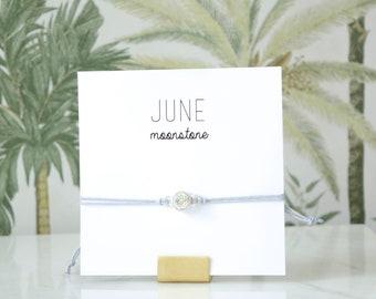 June Birthstone Bracelet - Moonstone Birthstone Bracelet - Birthstone Bracelet - Birthstone Jewelry