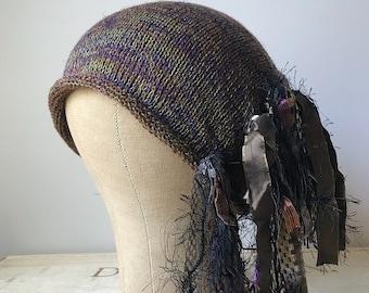 Brown & Green Tweed *Funky Chic Hat™*
