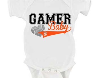 SF Giants Gamer Baby Body Suit