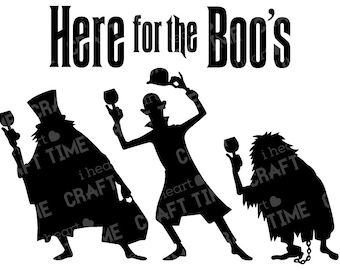 Haunted Mansion Here for the Boo's SVG Cut File | Digital Download | Epcot Food and Wine | Cricut | Silhouette