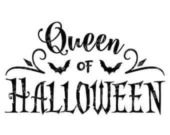 Queen of Halloween Digital SVG | Bats  | SVG Cut File | Digital Download | Cricut | Silhouette | Halloween