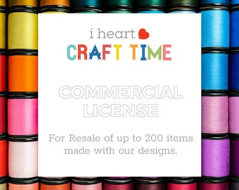 I Heart Craft Time Commercial Use Licensing UP TO 200 ITEMS | Extended License | Extended Commercial License Add-On