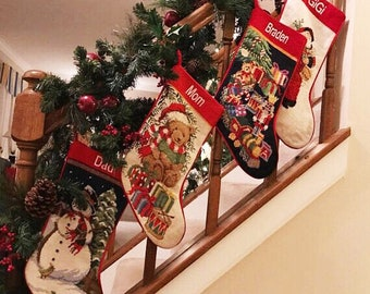 christmas stocking needlepoint christmas stocking personalized christmas stockings christmas needlepoint stocking christmas stockings