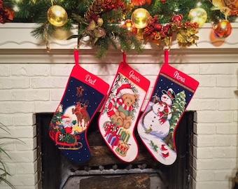 personalized stockings christmas stocking needlepoint christmas stockings personalized needlepoint christmas stockings family stockings - Personalized Needlepoint Christmas Stockings