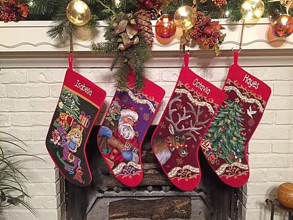 personalized christmas stockings christmas stocking etsyimage 0