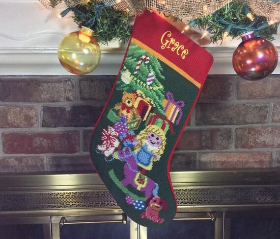 image 0 - Personalized Needlepoint Christmas Stockings