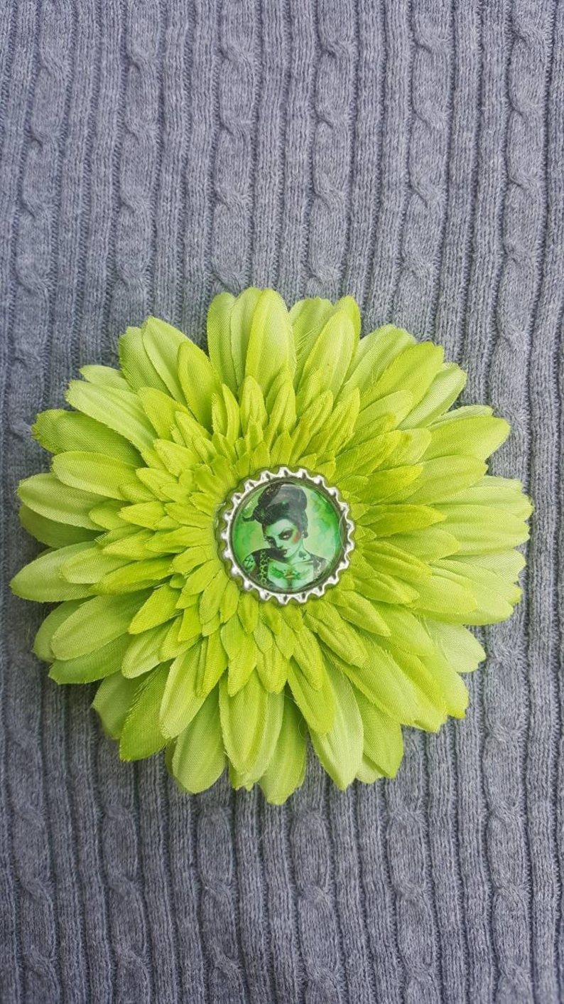 Zombie PinUp Girl Hair Flower
