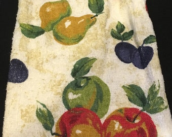 Fruit Single Sided Kitchen Hand Towel Cream 1
