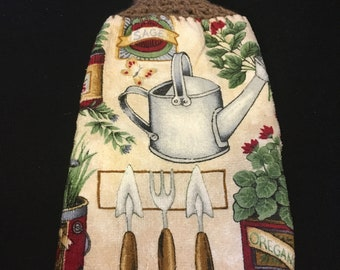 Watercan Double Sided Kitchen Hand Towel Brown 1