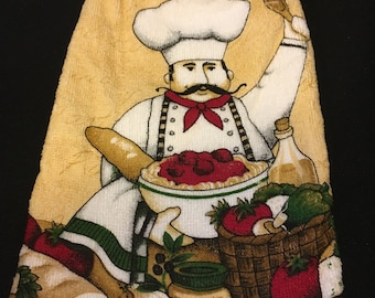 Happy Chef Double Sided Kitchen Hand Towel Black 1