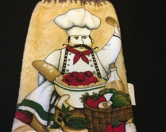 Happy Chef Double Sided Kitchen Hand Towel Brown 2