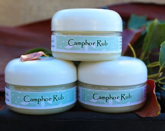 Camphor Rub is made for joint pain, and it works great for chest and head congestion and as a headache rub.