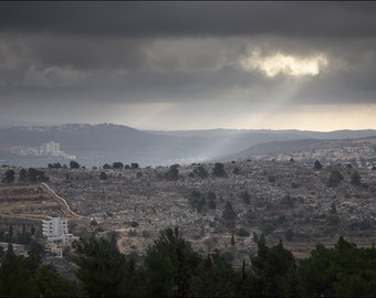 View of Jerusalem suburbs from the Tomb of Samuel - Jerusalem, Israel - Color Photo Print - Fine Art Photography (IS42)