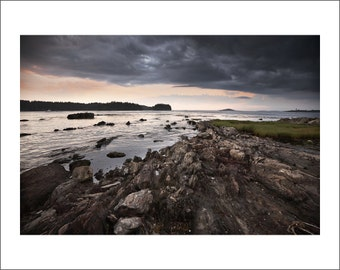 Pott's Point - Storm is Coming - Maine - Color Photo Print - Fine Art Photography (PP05)