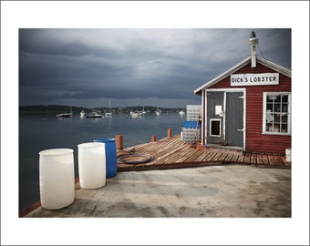 Pott's Point - Sunset at Lobster Wharf - Maine - Color Photo Print - Fine Art Photography (PP02)