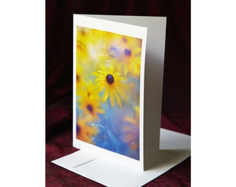 Black Eyed Susan - Rudbeckia - Folded Greeting Card
