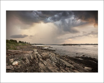 Pott's Point - Storm is Coming - Maine - Color Photo Print - Fine Art Photography (PP04)