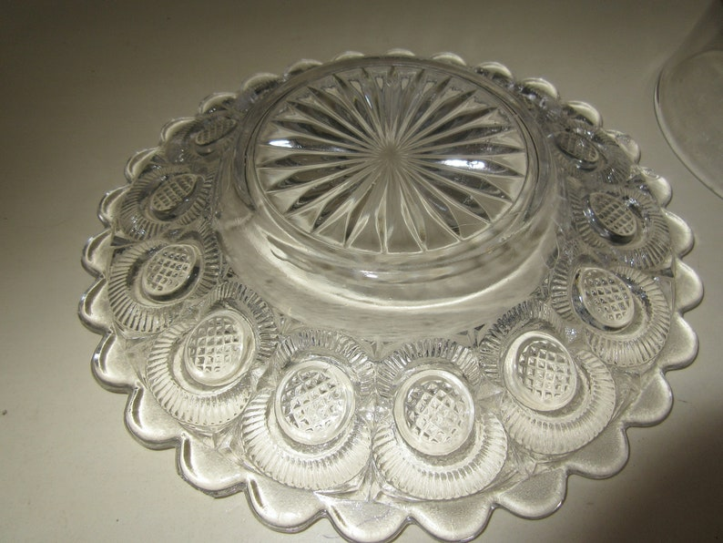PRESSED GLASS BUTTER Dish with Lid