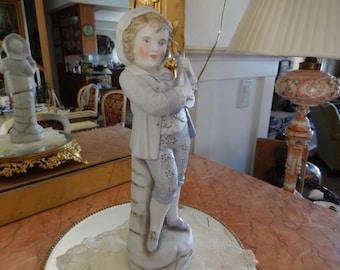 Vintage Bisque German Boy Figurine