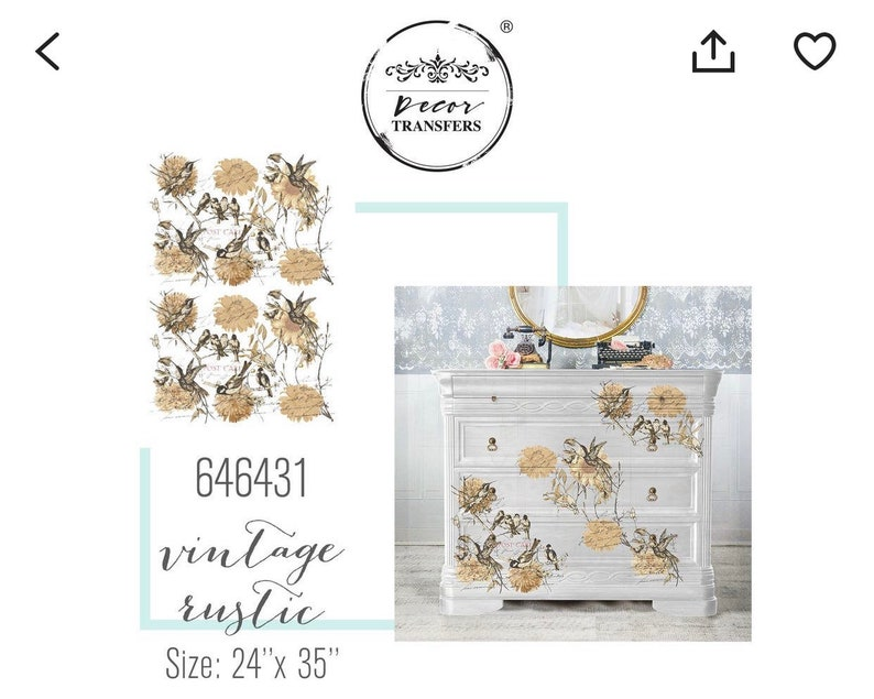 Vintage Rustic Redesign with Prima Rub on Transfers