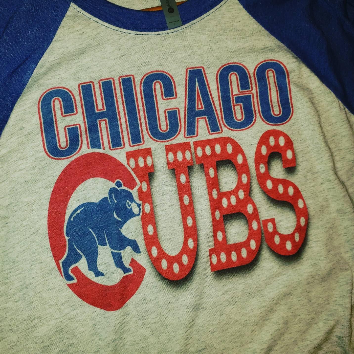 Chicago Cubs shirt CUBS tee Grey T-Shirts Womens Shirt Mom  be58019de6