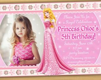Aurora Birthday Invitation Princess