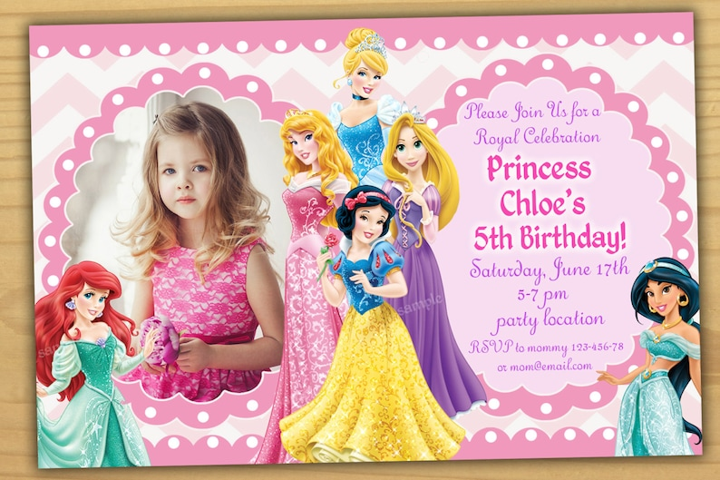 Sale Disney Princess Birthday Invitation