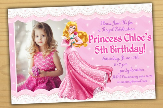 SALE Aurora Birthday Invitation Princess