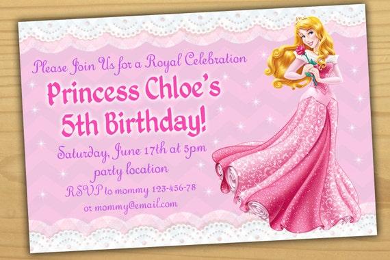 Sale Aurora Birthday Invitation Princess