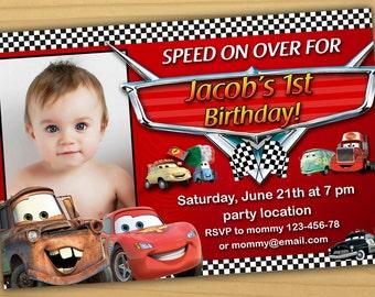 Disney Cars Birthday Invitation Disney Cars Invitation