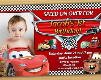 Cars invitation etsy sale disney cars birthday invitation filmwisefo