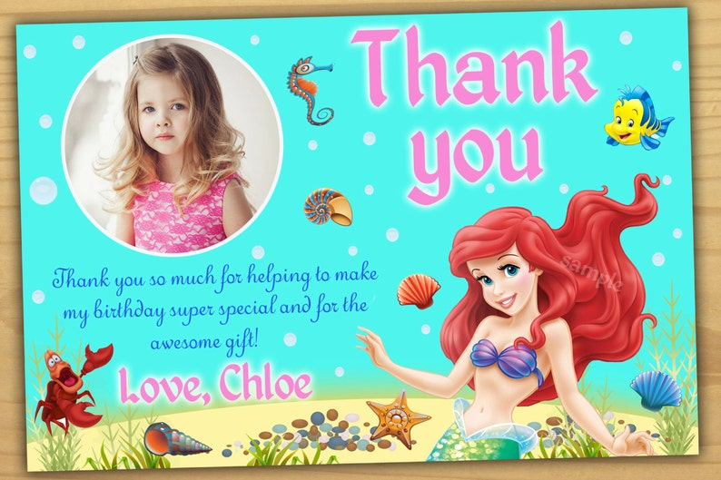 Ariel Birthday Invitation Princess Ariel Birthday Invitation Etsy