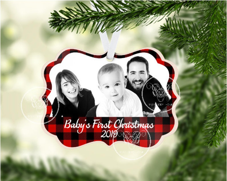 Baby's First Christmas Benelux Aluminum Ornament Wedding image 0