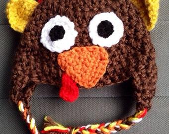 Crochet Thanksgiving Turkey Hat