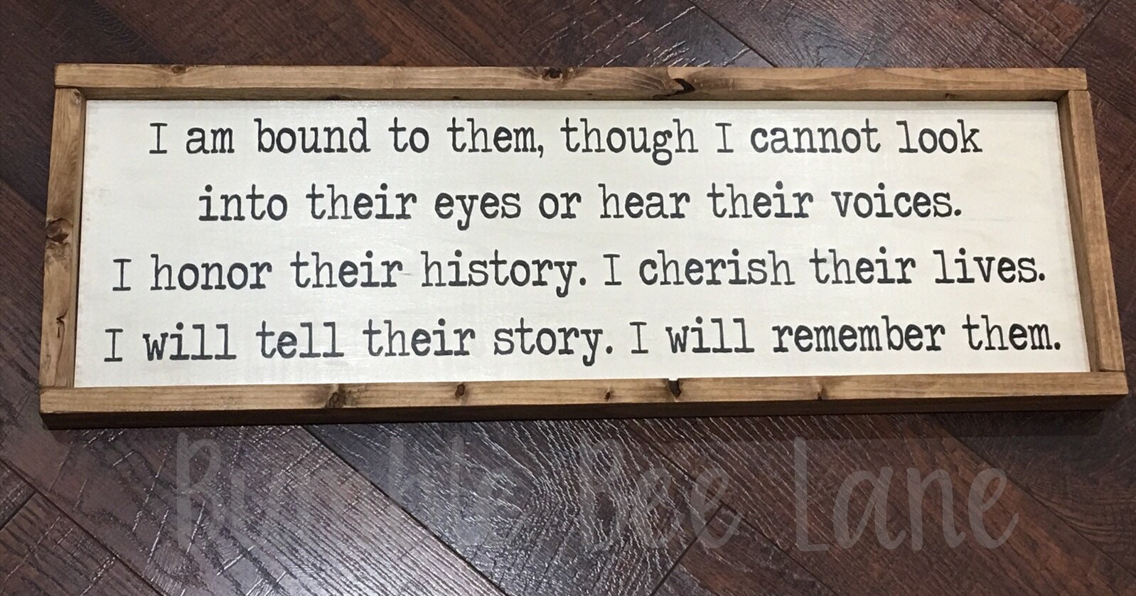 Geneolgy Sign Family Wall Decor I Am Bound To Them| Family History Sign Family Tree Sign Geneologist |Handcrafted Wood Sign