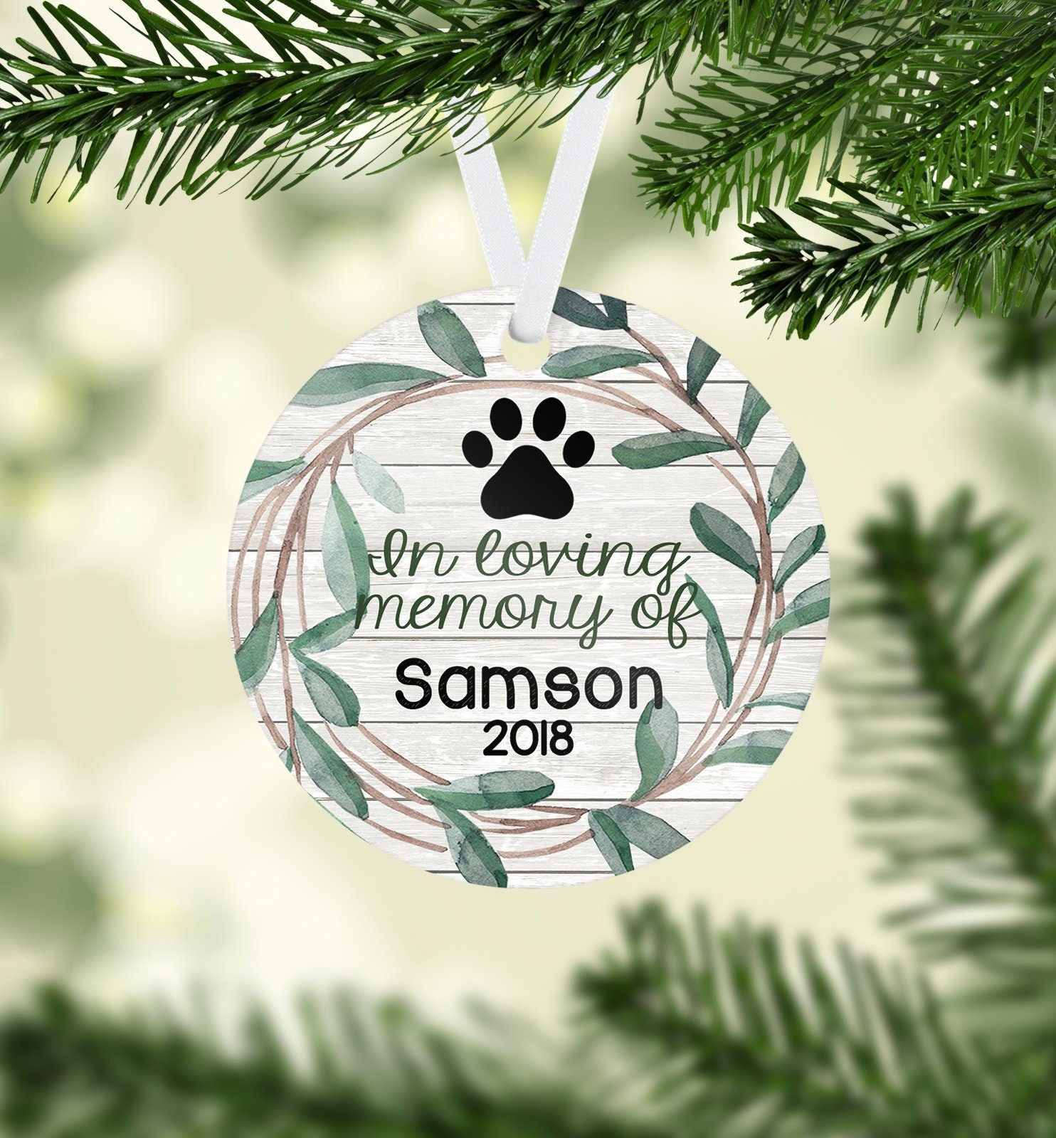 Pet Memorial Christmas Ornament Pet Ornament Deceased Pet | Etsy