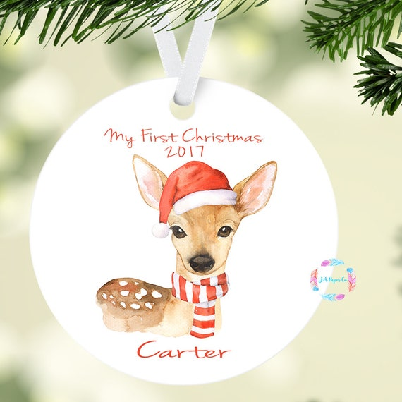 baby first christmas ornament baby boy ornament personalized etsy
