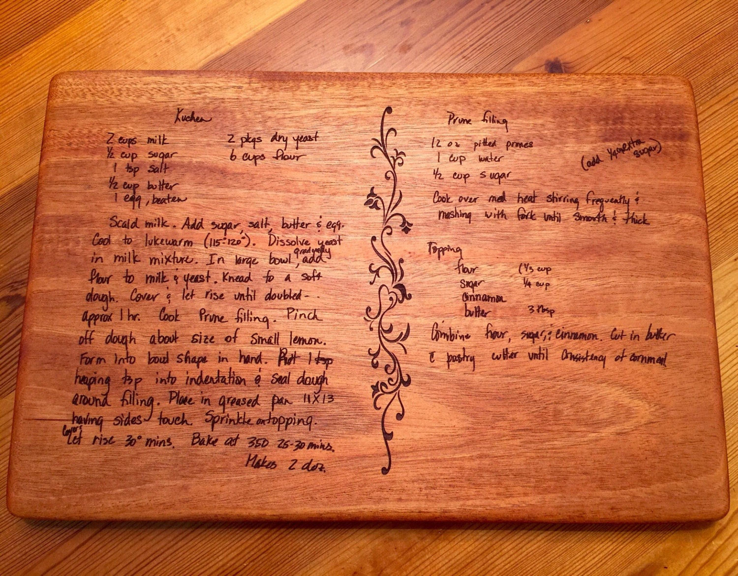 typed recipe cutting board - HD 1500×1171