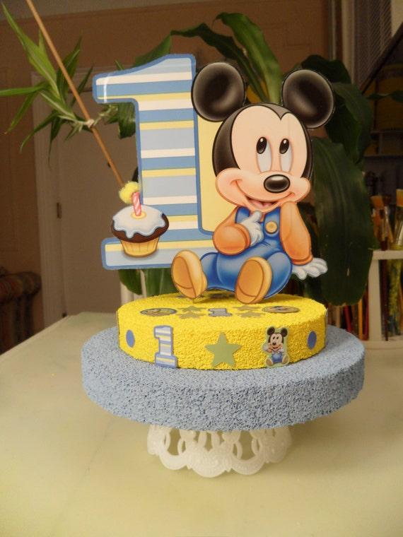 Magnificent Baby Mickey 1St First One Birthday Cake Topper Oe Etsy Personalised Birthday Cards Petedlily Jamesorg
