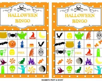 20 printable halloween bingo cards prefilled halloween clip arts halloween printable games