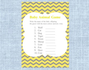 Twinkle Twinkle Little Star Baby Shower Baby Animal Name Game Etsy