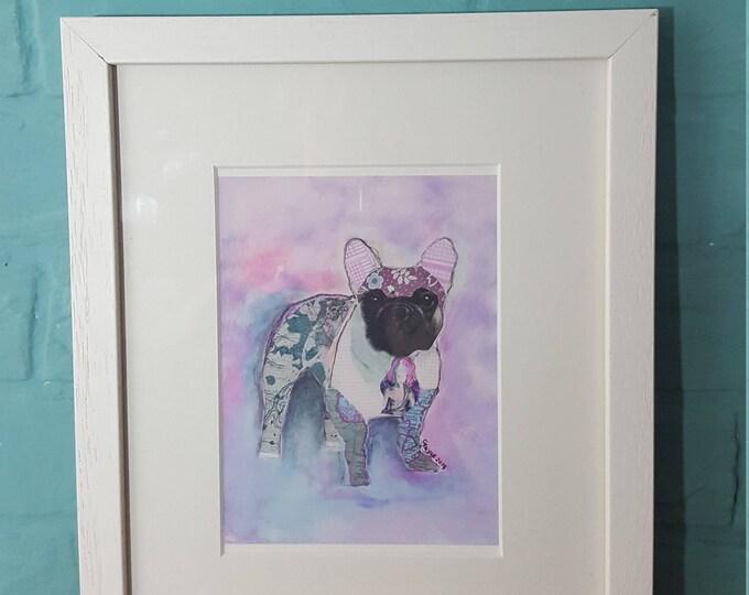 Frenchie...... Framed Giclee Print