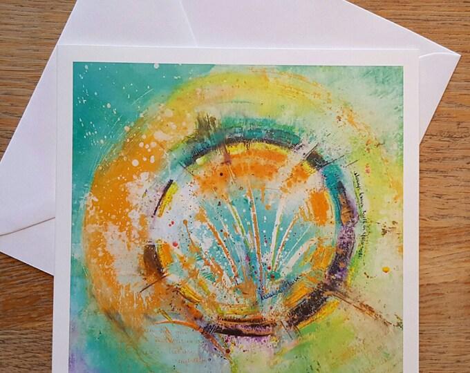 Beautiful Chaos...Mandala Art card, greeting card mixed media Original Art