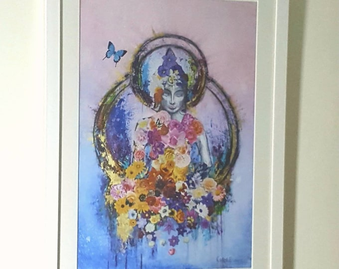 Buddha & The Butterfly framed Giclee print