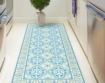 Printed vinyl mats linoleum rugs and bamboo rugs. door artmathome